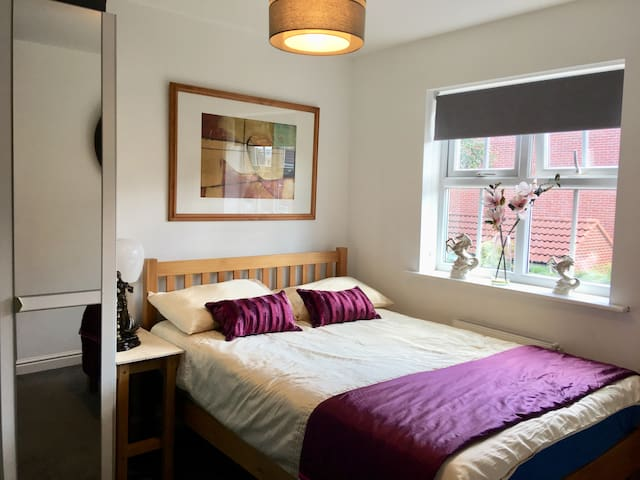Cozy private bedroom and a living space in Brough