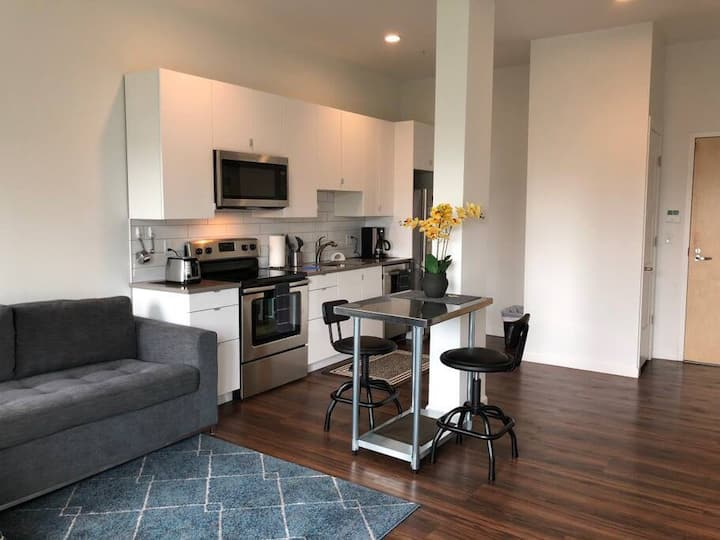 Sunset 404 GreenLine | 1BR 1BA | Walk to Brigham and Women's and GreenLine Trolley!