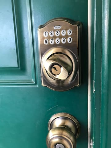 Door lock - code provided prior to check-in