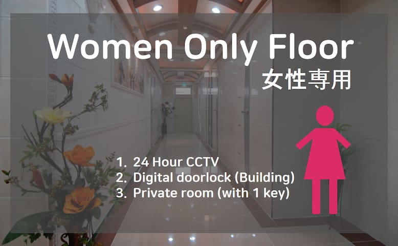 (308) Private room&bathroom(women only/no window)