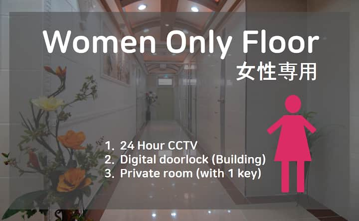 (305) Private room&bathroom(women only/window)