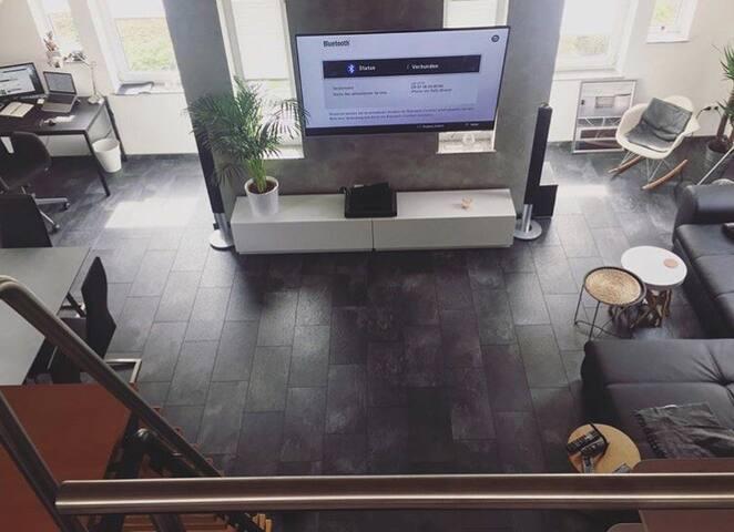 Cozy loft apartment with balcony