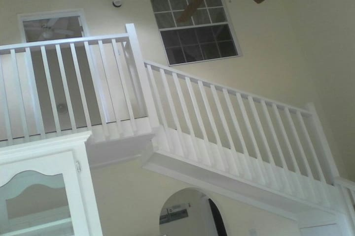 Stairway to the upstairs bedroom.