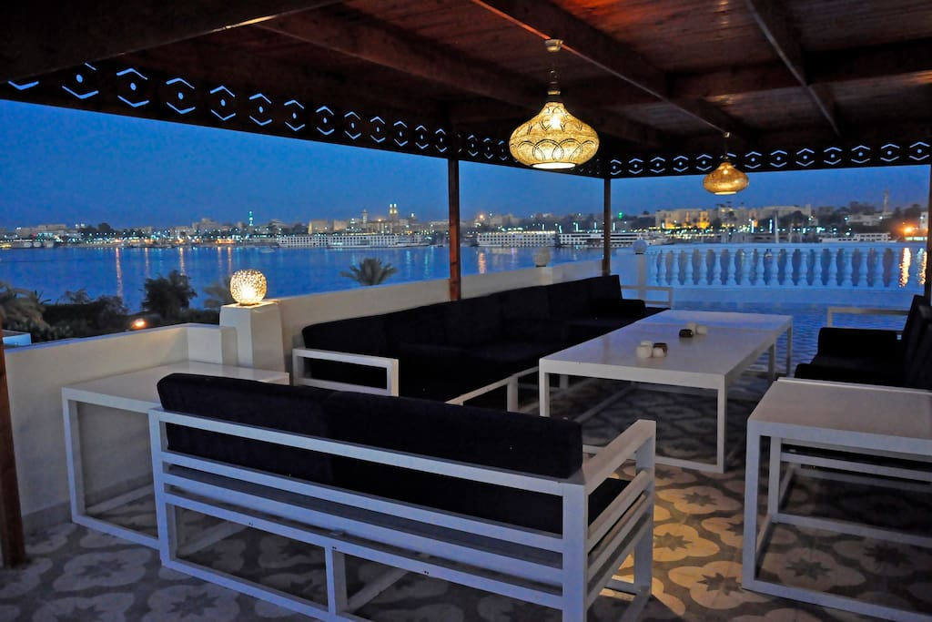 The rooftop terrace offers fantastic views of the Nile, Luxor Temple and Luxor city