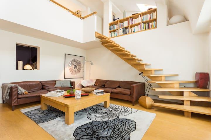 Chambre spacieuse , balcon arbore - Paris - Apartemen