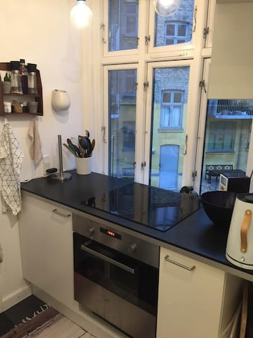 Bright one bedroom apartment at Nørrebros runddel