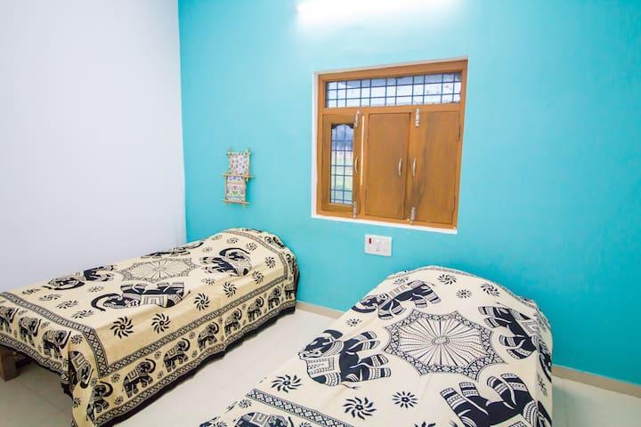 YOGA MEDITATE SLEEP 3 in tranquil Bodhgaya village