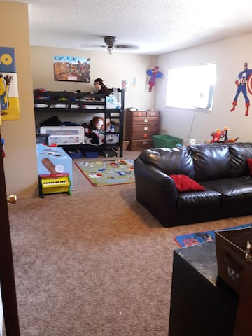 Solar eclipse room for family!