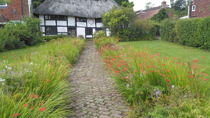 Dream thatched cottage in pretty village