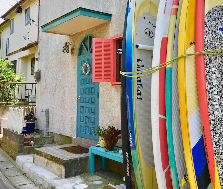 どこか懐かしい葉山の海辺の一軒家。リモートワークにも最適な光Wi-Fi環境完備!