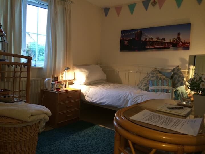 Two comfy, pleasant single rooms.