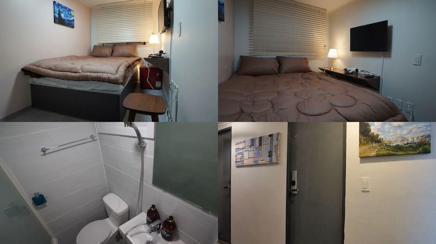 #202 Sinchon Sta 2mins, Hongdae 8mins Blue Mansion