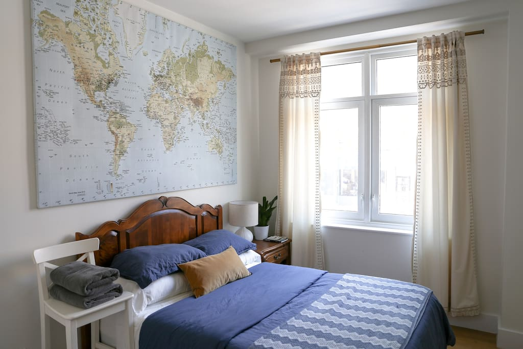 Welcome to your room! Spacious and bright - the room features a large closet, big window, and dresser and night stand to store your things.