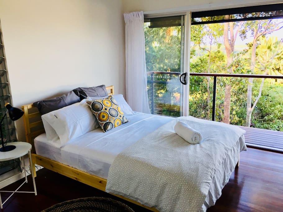 Main bedroom with queenside bed