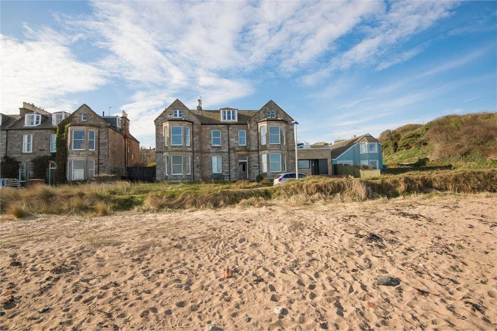 View of our North Berwick apartment from the beach.