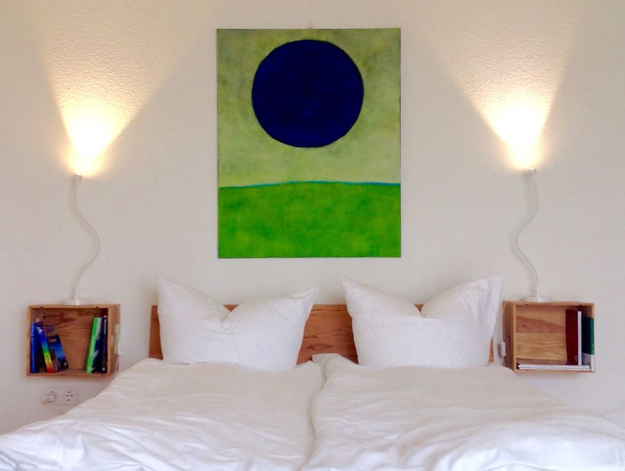 artwork changes but the cosy bed stays