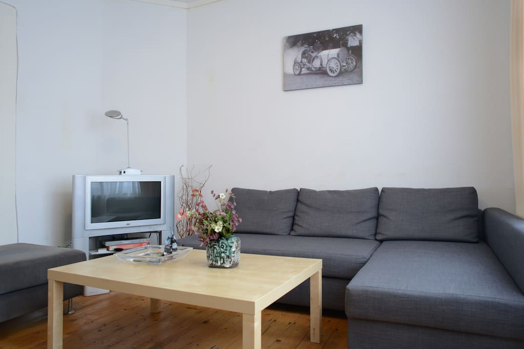 Private ralaxing room with TV and DVD