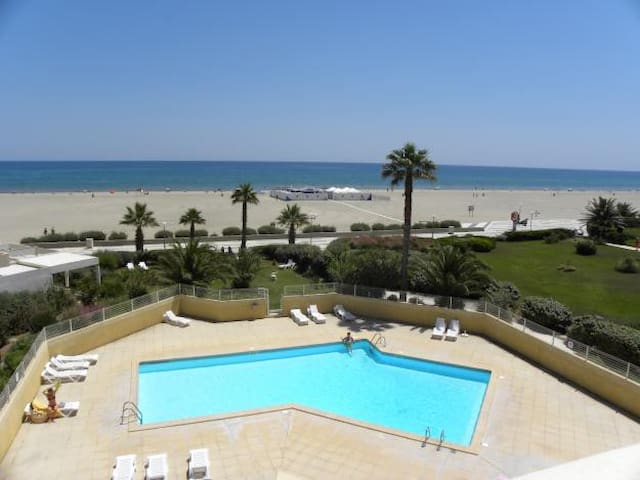 T3 avec accès direct plage, 2ème étage vue Canigou