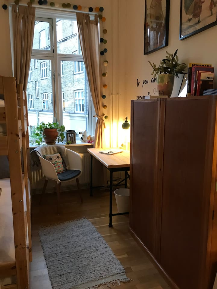 Photo of the room from the door... small but cozy :)