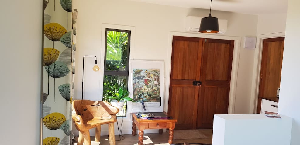 Nicely furnished with double glazing, modern heat pump and quality bathroom.