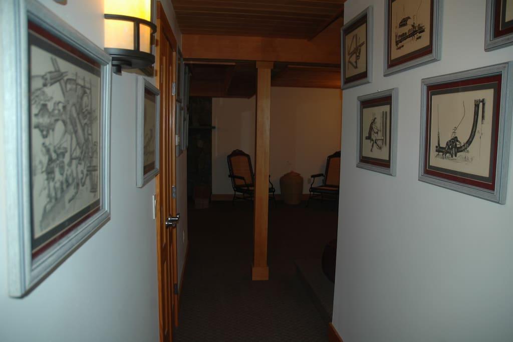 Hallway into common area