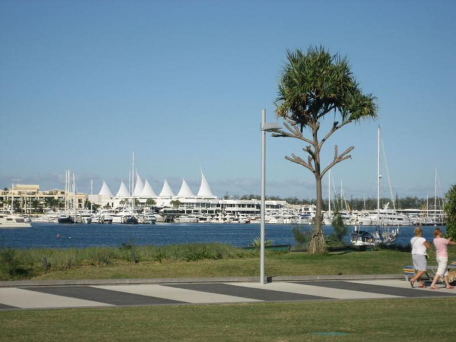View of Marina Mirage from the parklands opp unit