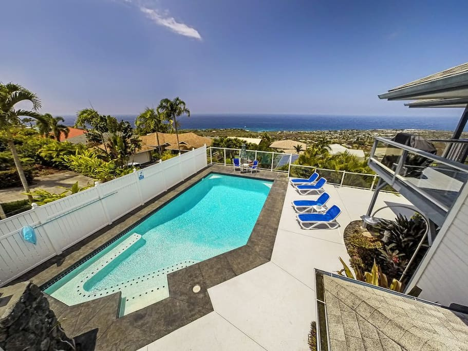 Relax in your private pool with ocean views