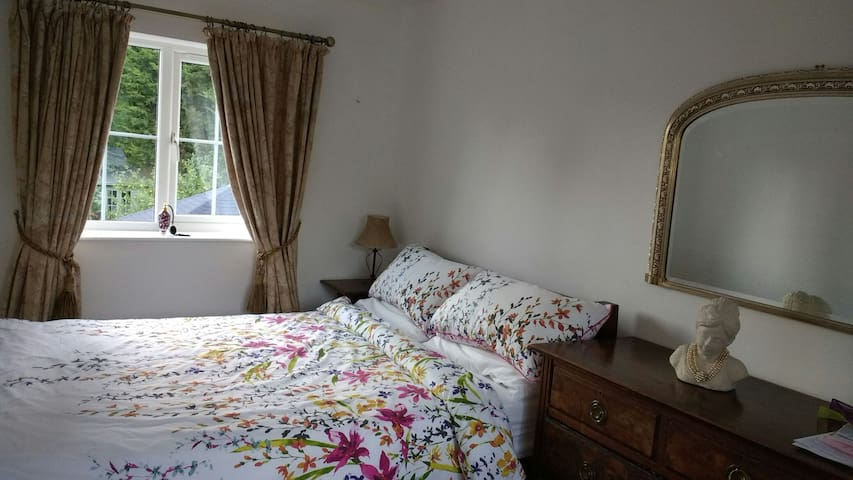 Double bedroom with garden view, - Hilton - House