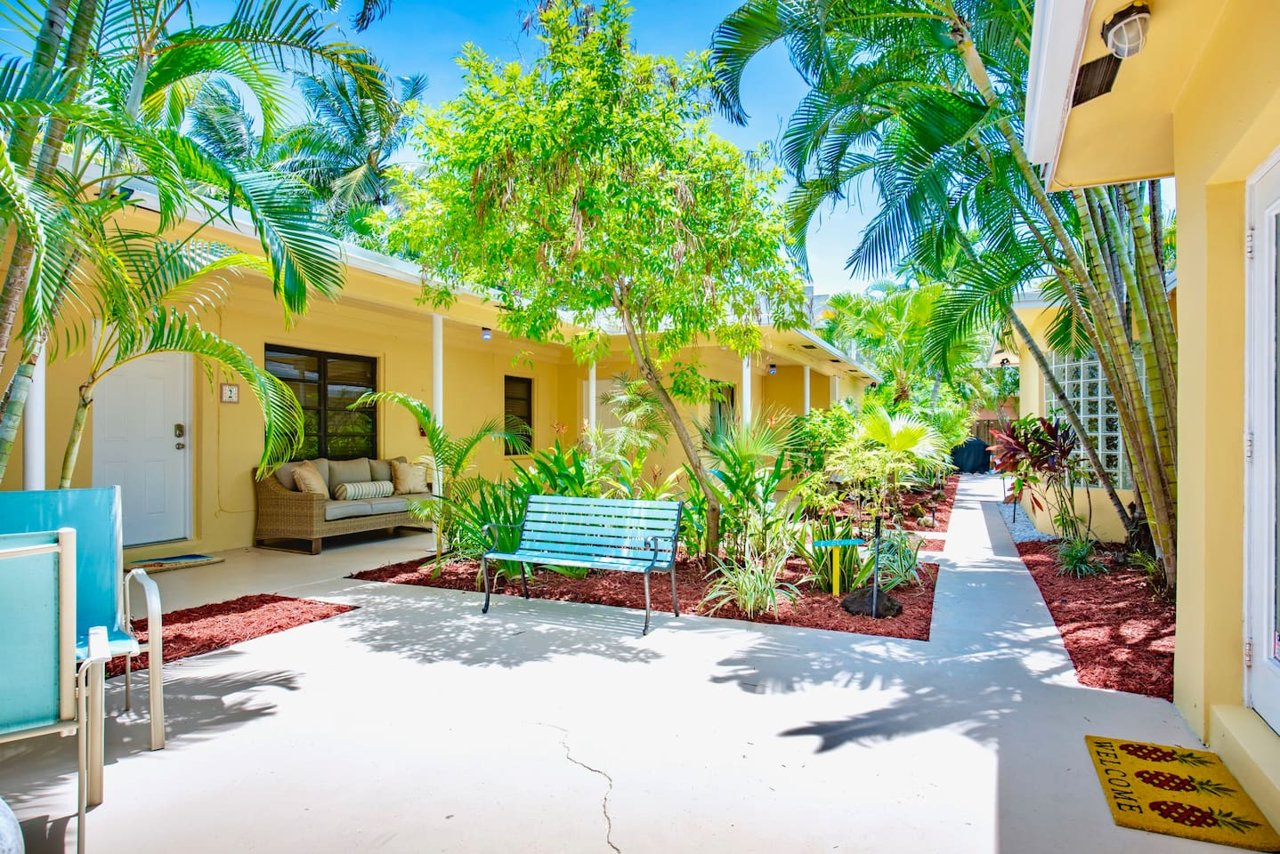 Courtyard and Gardens - shared access with other guests on property.