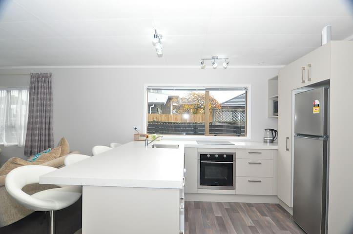 Modern kitchen with plenty of bench space