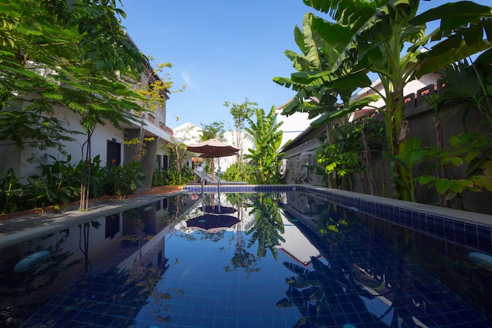 Family Villa in center of town + Pickup - Krong Siem Reap - Casa de campo
