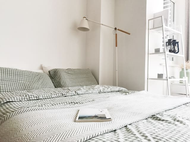 宜家床垫+muji风床品