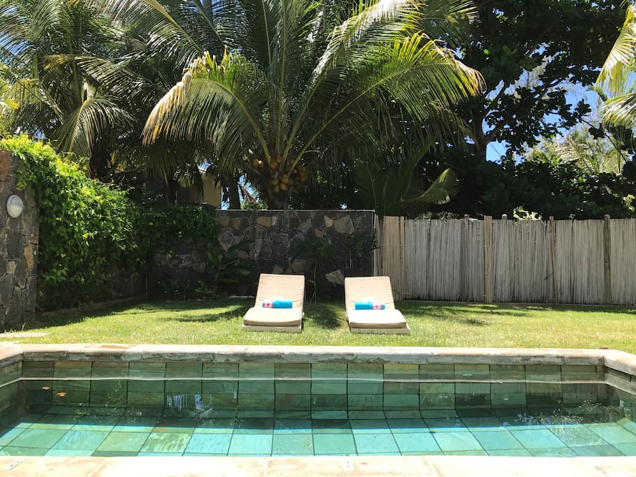 Sun Loungers by Pool side