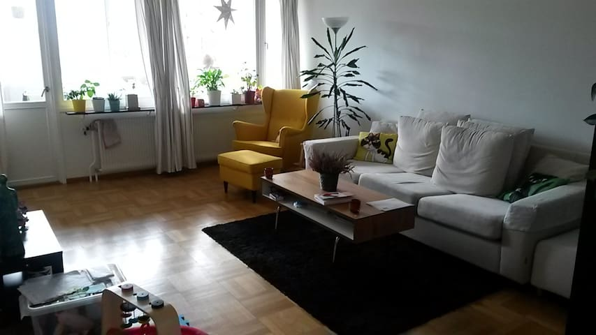 Light and spacious apartment in quiet & green area - Lund - Departamento
