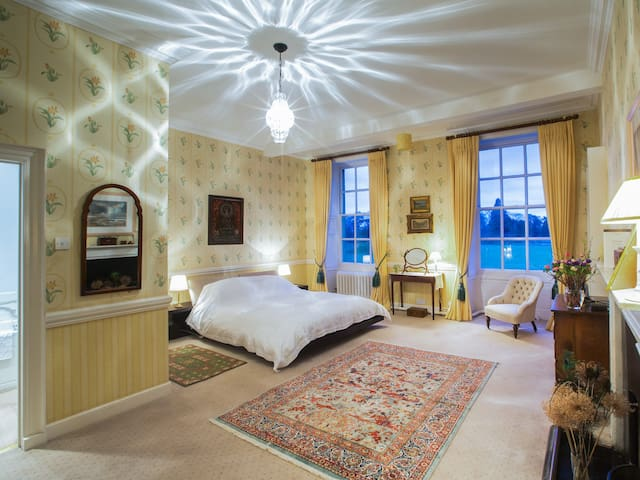 Large double room in historical country house - Wiltshire - Penzion (B&B)