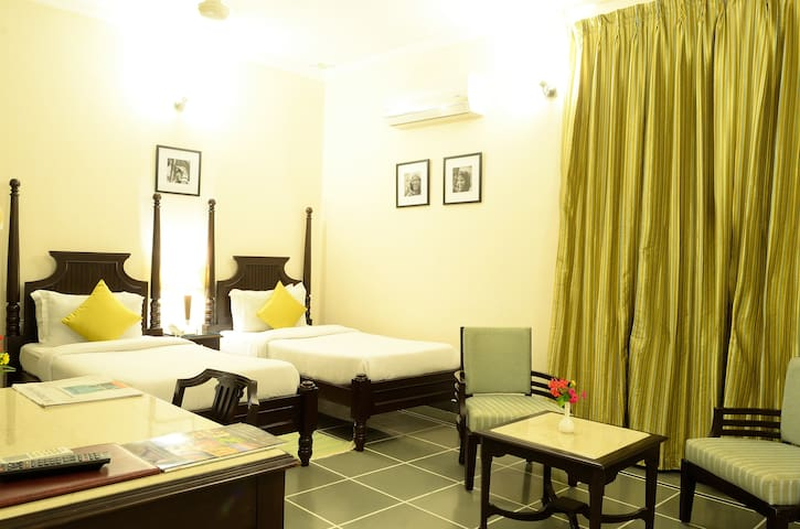 Twin Bedded Room on the first floor in Udaipur