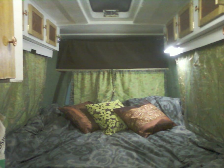 This is how the van will be set up for your stay