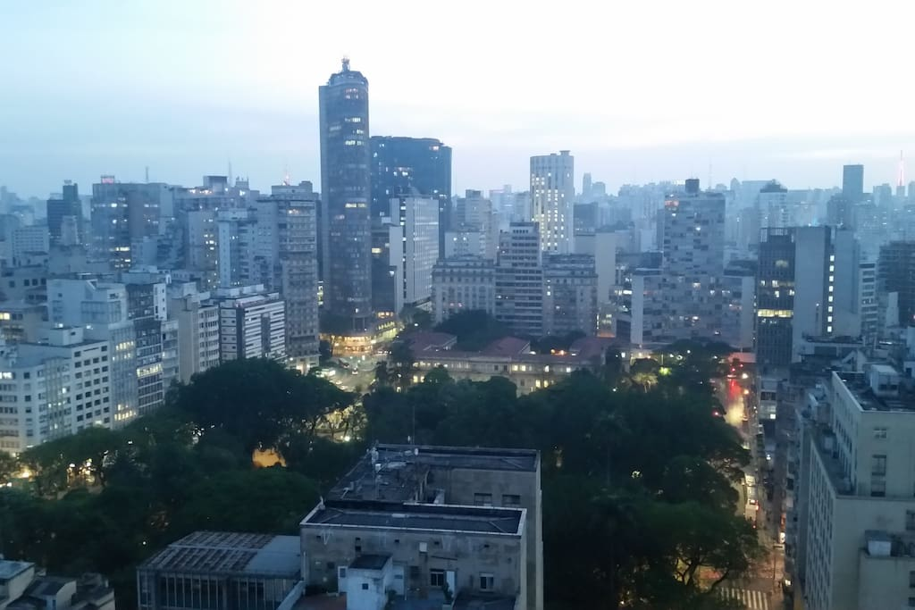 Dusk in Sampa as seen from the living room.