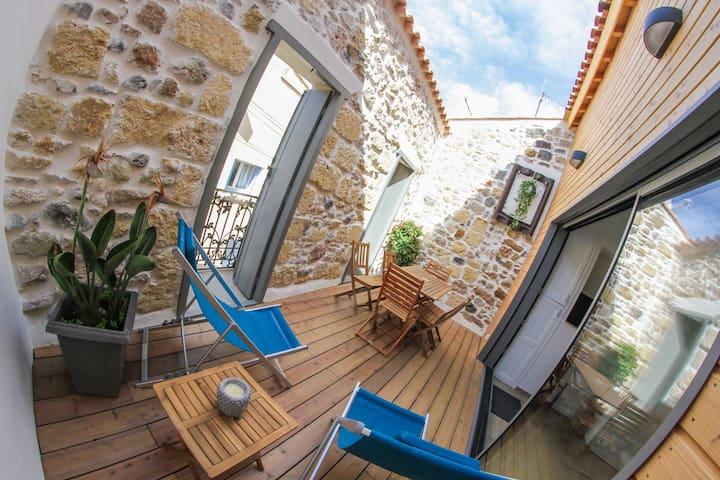 Maison la Charmeraie avec grand garage et terrasse