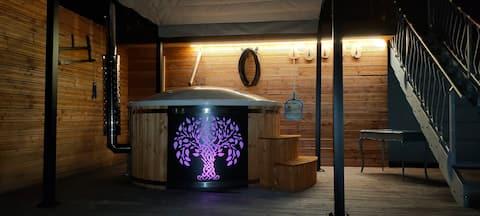 Chalet indépendant au calme bain nordique de luxe