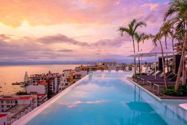 W601 D'Terrace Vacation like a Rockstar - Puerto Vallarta - Apartment