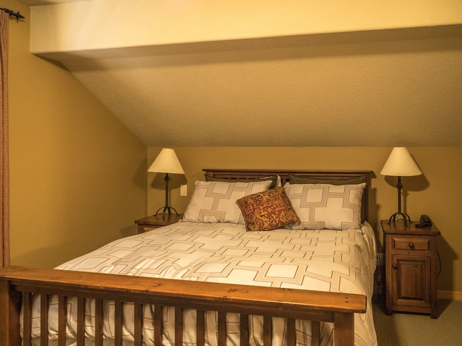 Upstairs - Master Bedroom, king sized bed.