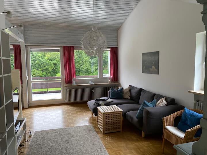 Neuhaus/Schliersee terrace and mountain view