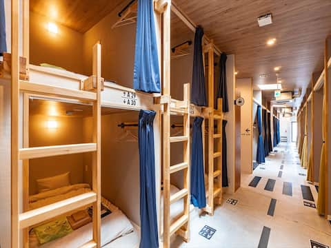 【Mixed Dormitory Bed】Cyclist friendly hostel on Sh