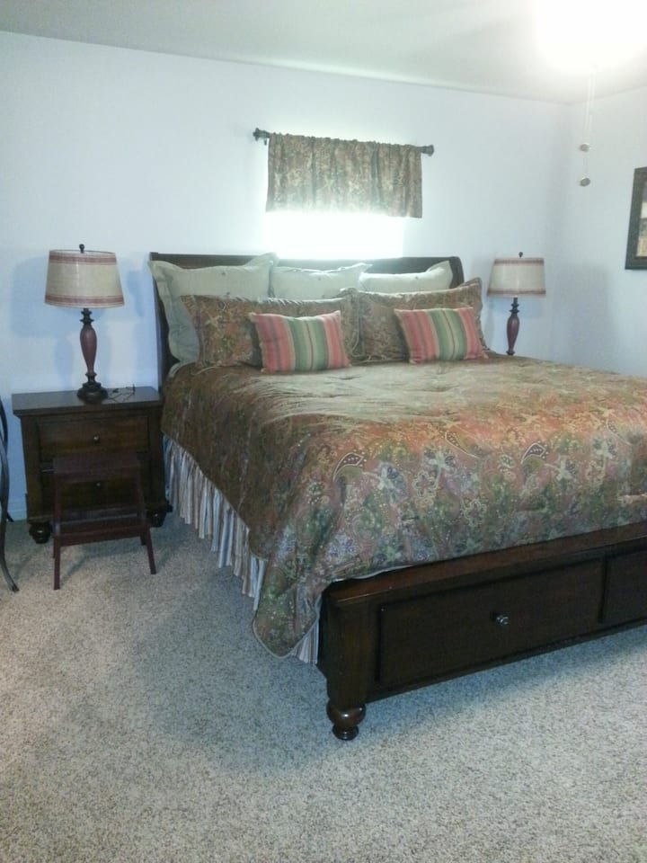 College Station Bryan Upstairs Master Bedroom