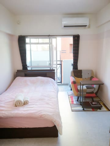 Cozy room with free wifi ! Near Ohori park station - Chūō-ku, Fukuoka-shi