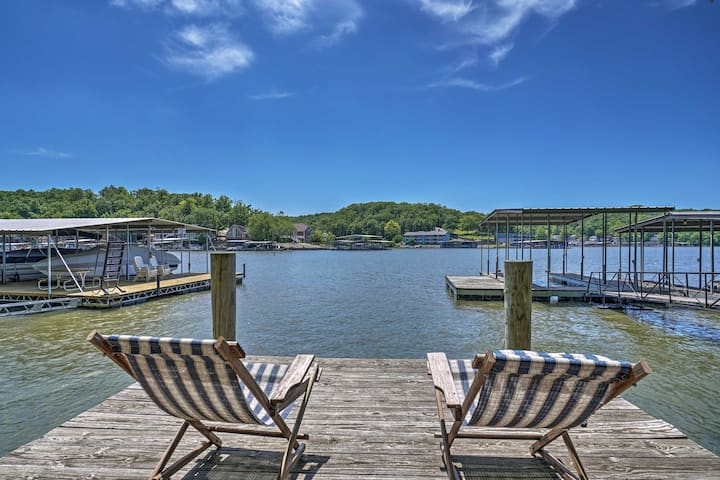 Lake of the Ozarks Home w/ Game Room, BBQ & Dock!