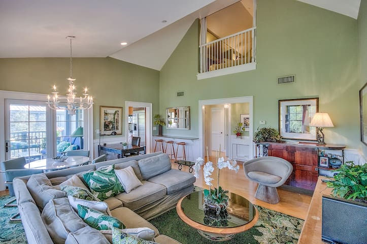 Open concept floor plan for a relaxed feel