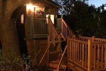 Night Time Treehouse with Deck