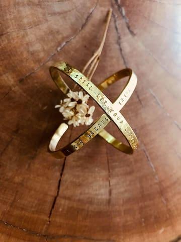 住宿即享黃銅手環體驗課,製作手環一對